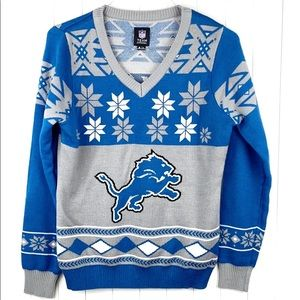 Detroit Lions Ugly Sweater. XL but fits like a L.